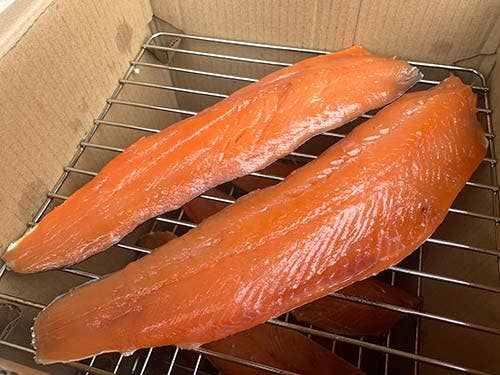 Fillets in the cold smoker