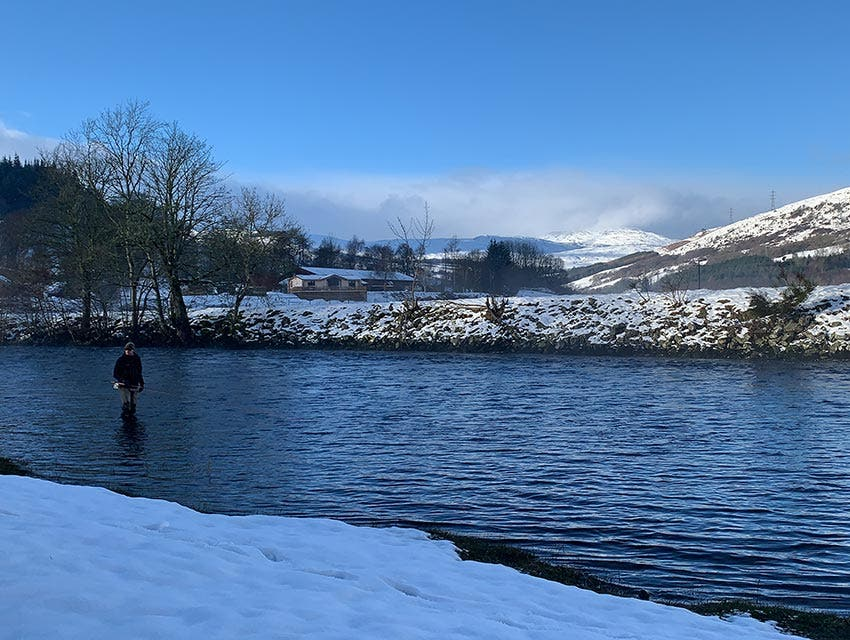 River in the Snow