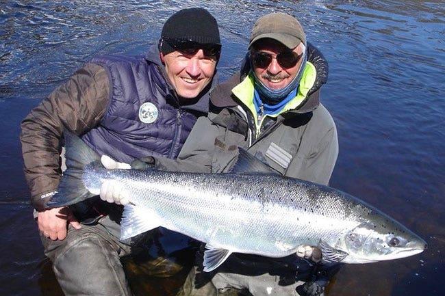 Salmon fishing abroad