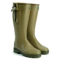 Le Chameau Chasseur Leather Lined Wellington Boots (Calf 43)
