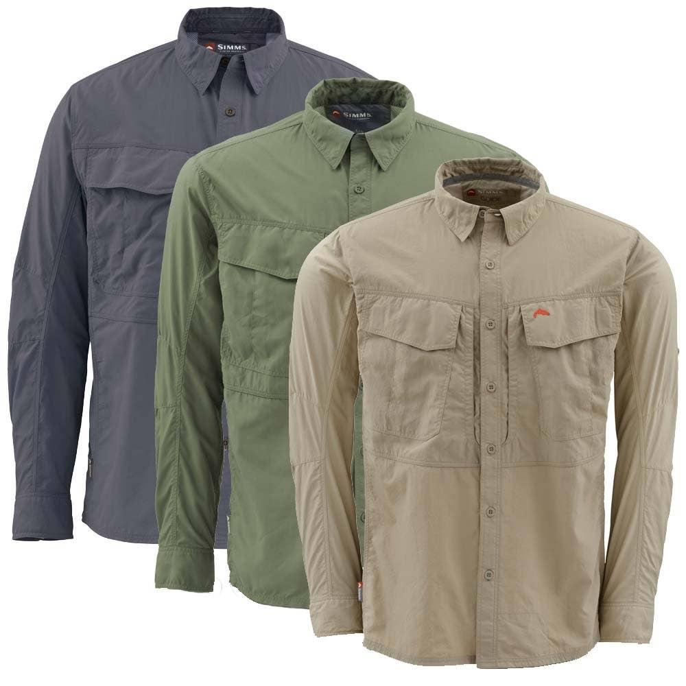 Simms guide long sleeve fishing shirt simms shirts farlows for Long sleeve fishing shirts