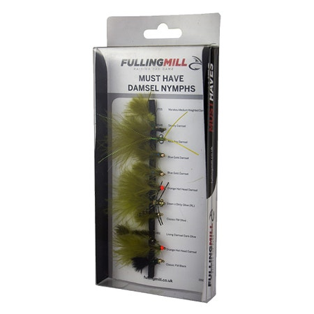 Fulling Mill Must Have Damsel Nymphs Fly Set