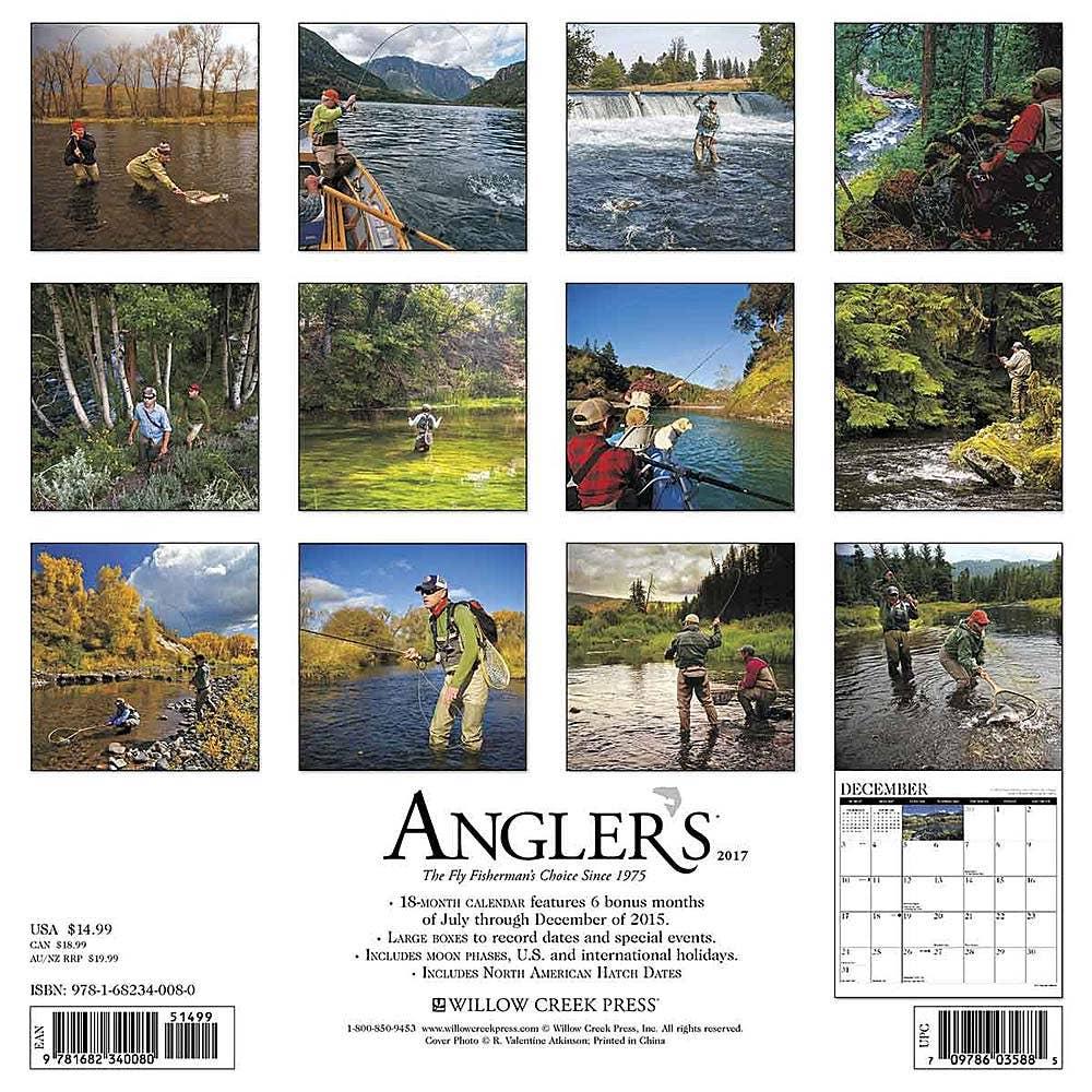Angler 39 s fly fishing 2017 calendar fly fishing calendar for Fishing calendar 2017