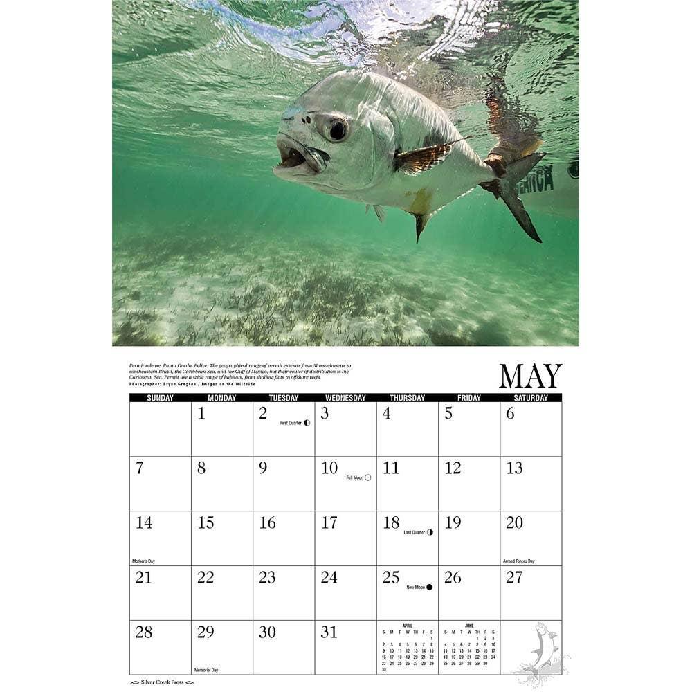 Saltwater fly fishing 2017 calendar fishing calendar for Fishing almanac 2017