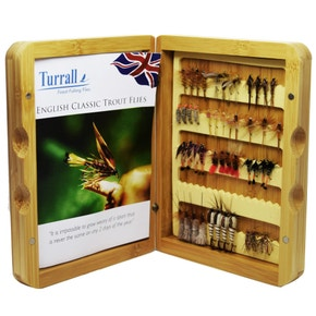 Turrall English Classic Trout Flies Presentation Fly Box