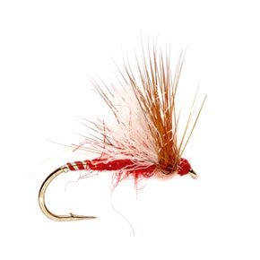 Fulling Mill Aero Bits Red Dry Fly