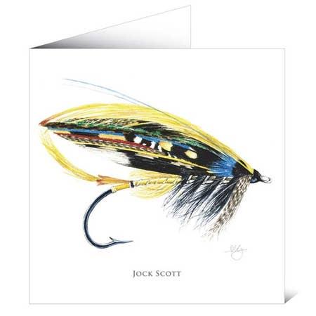 Mayfly Art Greetings Card - Jock Scott