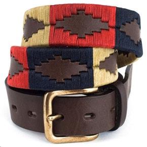 Pioneros Polo Belt - Navy/Cream/Red