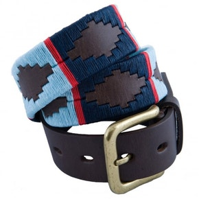 Pioneros Polo Belt - Navy/Pale Blue/Red Stripe