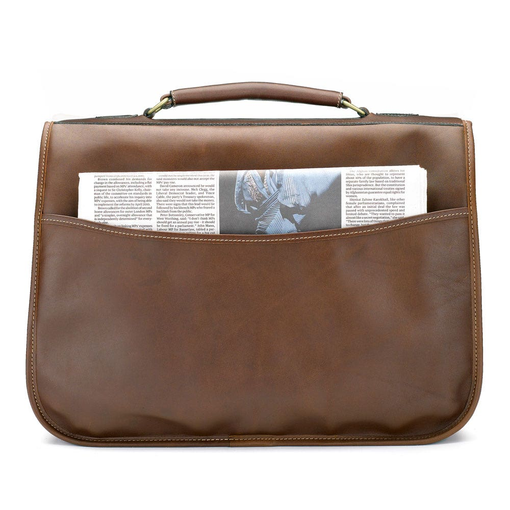 Tusting Clipper Leather Satchel Men S Leather Bag