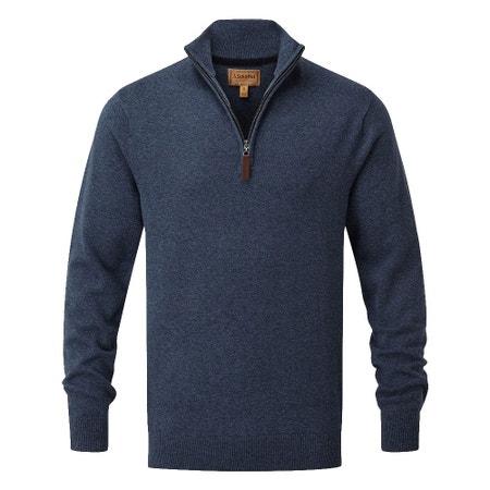 Schoffel Cashmere/Cotton 1/4 Zip Knitted Jumper