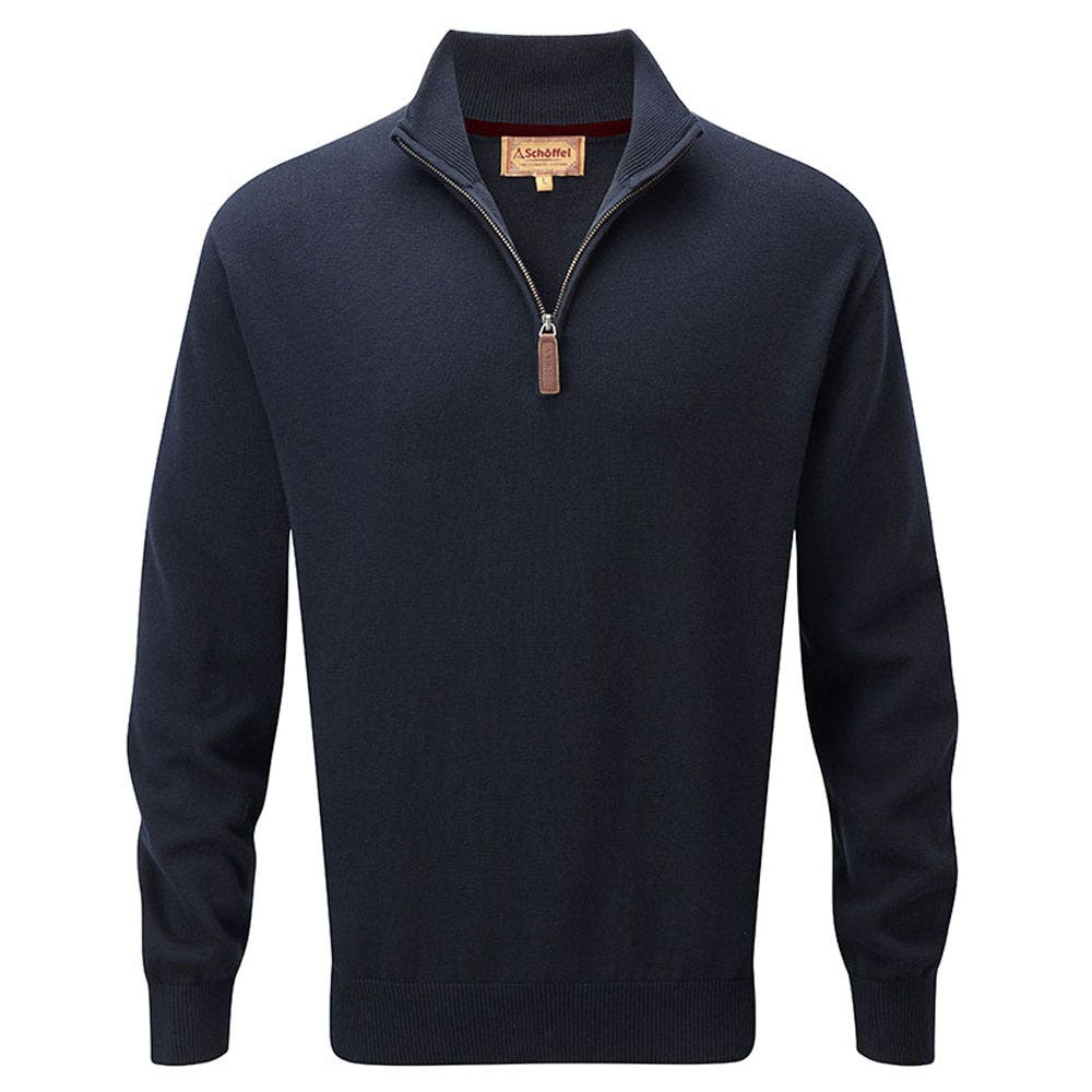 Beroemd Schoffel Cashmere & Cotton 1/4 Zip Neck Sweater | Men's Sweaters  EF-37