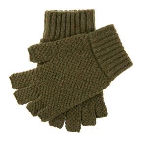 Dents Lanber Tuckstitch 1/2 Finger Wool Shooting Gloves