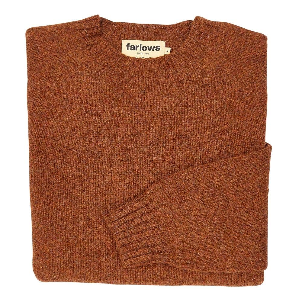 Genoeg Farlows Crew Neck Super Soft Shetland Wool Jumper | Farlows SP-38