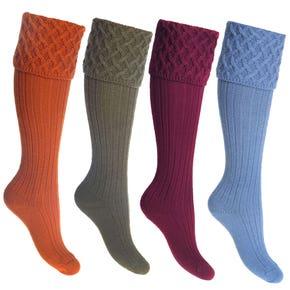 Farlows Ladies Rannoch Basket Weave Shooting Socks