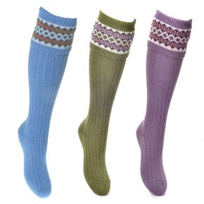 Farlows Ladies Fairisle Knitted Shooting Socks