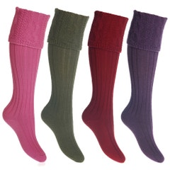 Farlows Lady Glenmore Cable Knitted Shooting Sock
