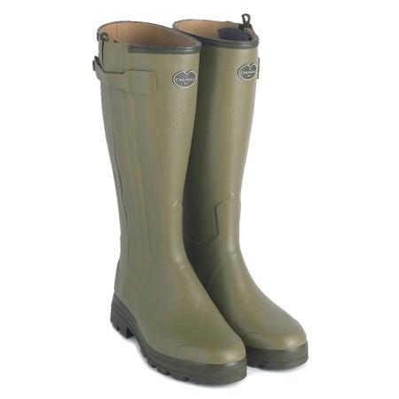 Le Chameau Ladies Chasseur Neoprene Full Zip Wellington Boots