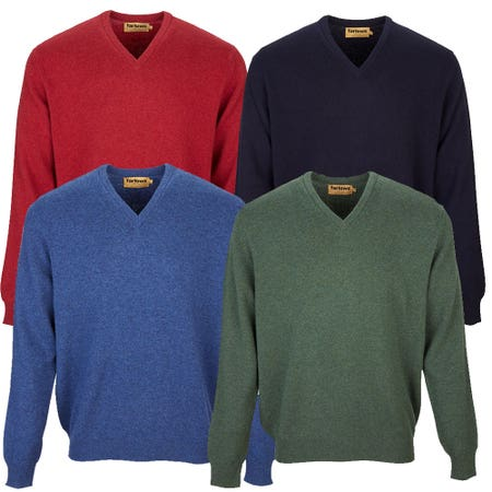Farlows V-Neck Lambswool Knitted Jumper