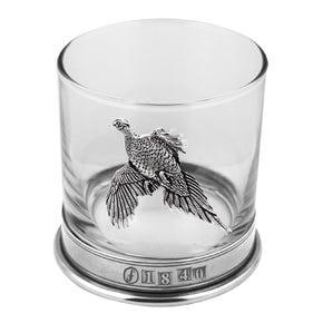 Farlows 11oz Glass/Pewter Whisky Tumbler Set of 2