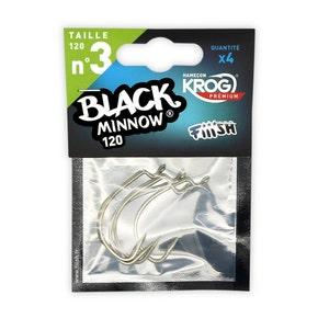 Fiiish Black Minnow Silver Hooks