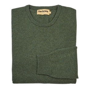 Farlows Rosemary Crew Neck Lambswool Knitted Jumper