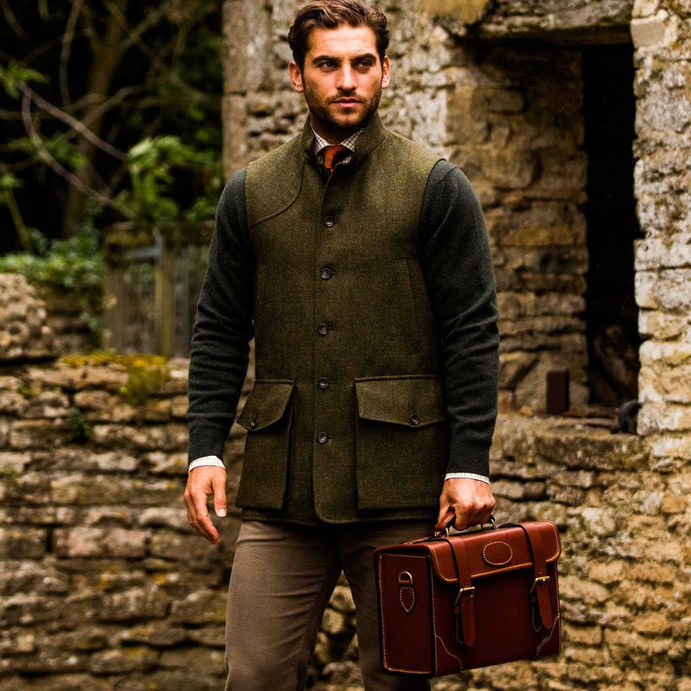 various colors classic styles official store Farlows Tweed Shooting Gilet | Farlows