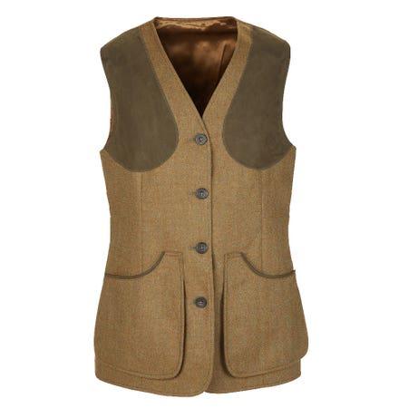 Farlows Ladies Dartmoor Tweed Shooting Vest