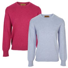 Farlows Ladies Crew Neck Lambswool Knitted Jumper