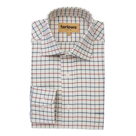 Farlows Tattersall Medium Check Shirt