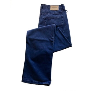 Farlows New Navy Cotton Twill Jeans