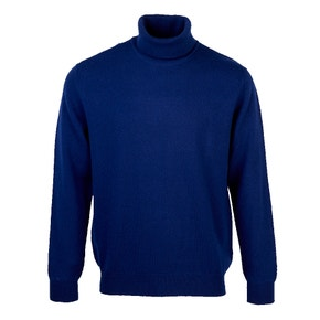 Farlows Roll Neck Lambswool Knitted Jumper