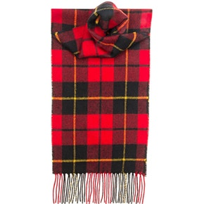 Farlows Wallace Modern Check Lambswool Scarf