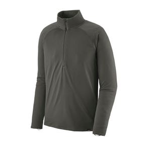 Patagonia Forge Grey Capilene Midweight Zip Neck Top