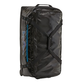 Patagonia Black with Fitz Trout Black Hole Wheeled Duffel 100L