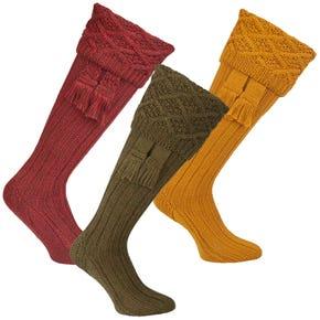 Farlows Colonsay Broad Rannoch Sock & Garter Set