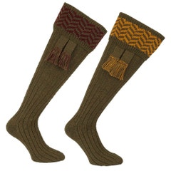 Farlows Herringbone Sock & Garter Set