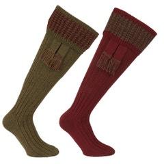 Farlows Houndstooth Sock & Garter Set