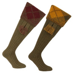 Farlows Chunky Argyle Sock & Garter Set