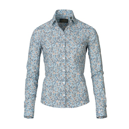 Laksen Flora Print Cotton Shirt