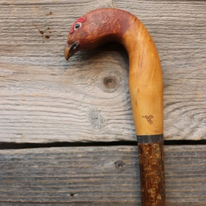 Farlows Red Grouse Walking Stick - Beech and Hazel Shank