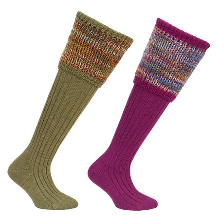 Farlows Ladies Katrine Multi Top Knitted Shooting Sock