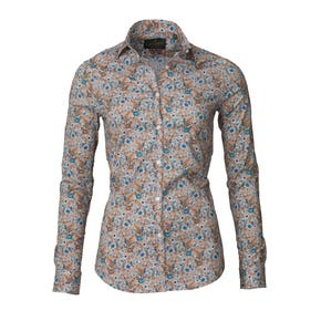 Laksen Birds and Blossom Poplin Shirt