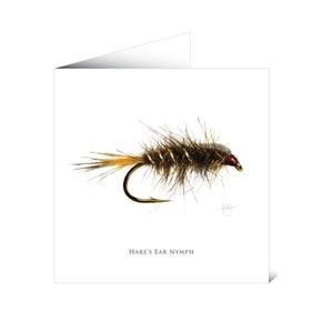 Mayfly Art Greetings Card - G.R.H.E