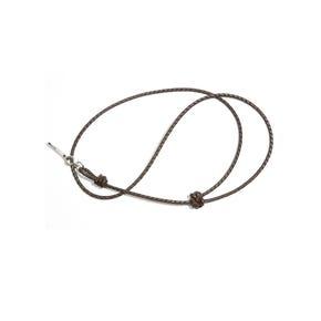 Braided Leather Dog Whistle Lanyard