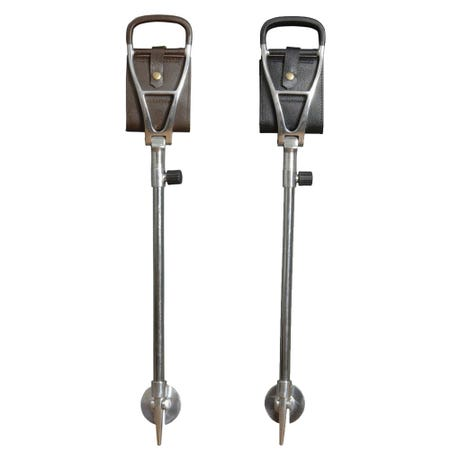 Classic Canes Leather Polo Seat Stick with Spike
