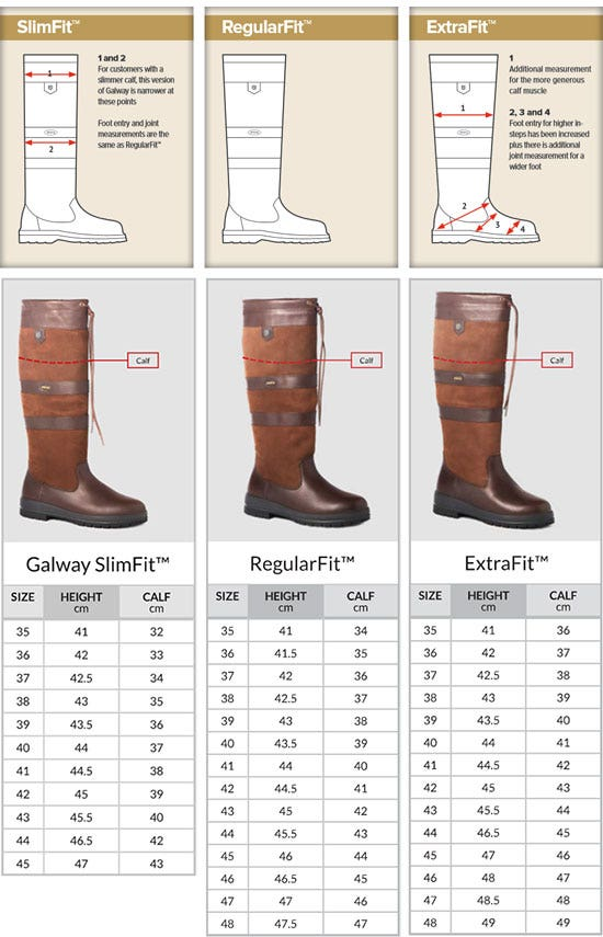 Dubarry Galway Fit Chart