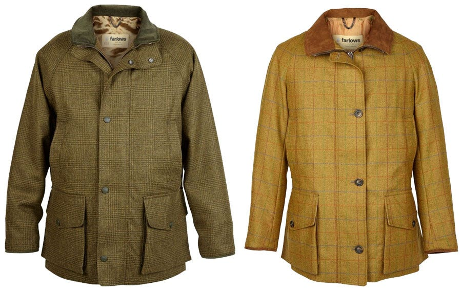 Farlows Litchfield and Burghley Coats