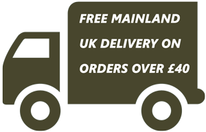 FREE MAINLAND UK DELIVERY ON ORDERS OVER £40