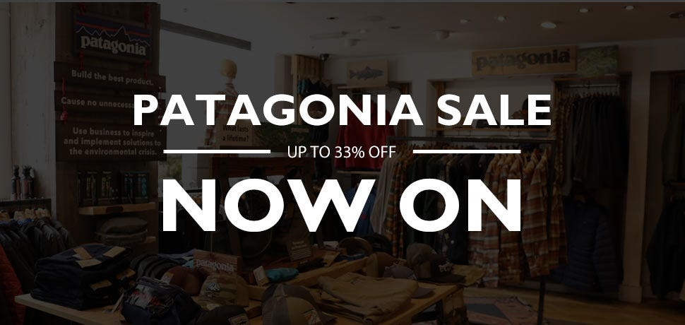 Up to 33% off selected Patagonia